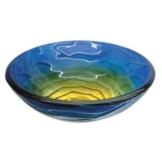 Yosemite Home Decor Chloe Round Vessel Sink   Retro Blues   Bathroom Sinks