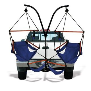 Hammaka Trailer Hitch Stand with Hammaka Chairs with Wooden Dowels   Hammock Chairs & Swings