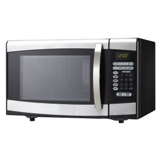Danby DMW099BLSDD 0.9 cu.ft. Microwave Oven   Black with Stainless Steel   Microwave Ovens