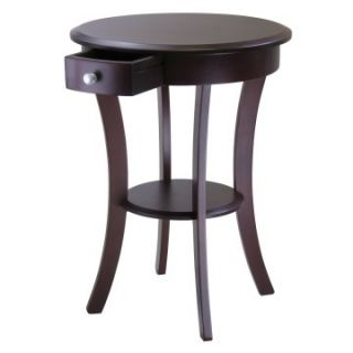 Winsome Sasha Round Accent Table   Cappuccino   End Tables