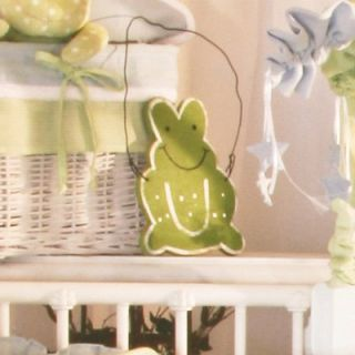 Brandee Danielle Round Sammy Green Frog Wall Hanging Wall Art   Nursery Decor