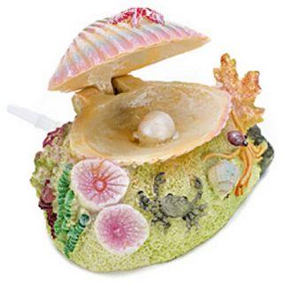 Penn Plax Shimmering Clam shell Aquarium Ornament   Aquarium Plants & Decorations