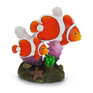 Penn Plax 3 in. Clown Fish and Coral Aquarium Decor   Aquarium Plants & Decorations