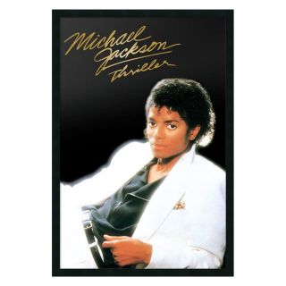 Michael Jackson   Thriller Album Framed Wall Art   25.41W x 37.41H in.   Photography