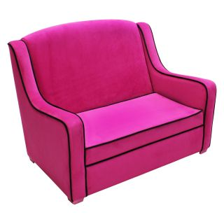Harmony Kids Camille Sofa   Hot Pink/Black   Kids Sofas