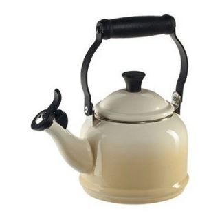 Le Creuset Demi 1.25 qt. Stainless Steel Whistling Teakettle   Dune   Stove Top Tea Kettles