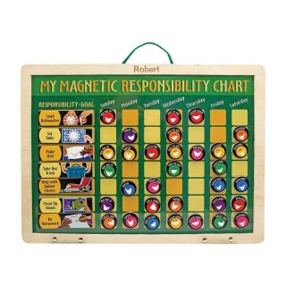Melissa and Doug Personalized My Magnetic Responsibility Chart   Learning Aids