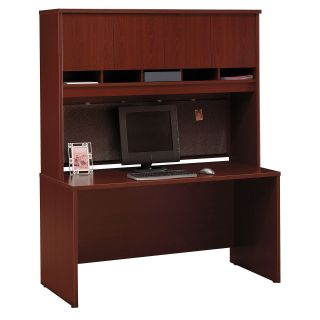 Bush Series C 60 Inch Credenza and 4 Door Hutch   Computer Desks