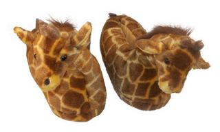 Comfy Feet Giraffe Animal Feet Slippers   Mens Slippers
