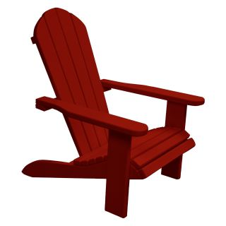 Newco Kids Wooden Outdoor Chair   Bright Red   Kids Outdoor Chairs