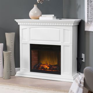 Roanoke 23 in. Convertible LED Electric Fireplace   White   Electric Fireplaces