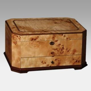Mapa Burl Wooden Jewelry Chest   Womens Jewelry Boxes