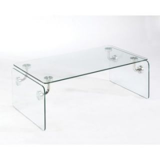 Magnussen Clarion Glass Rectangular Cocktail Table   Coffee Tables