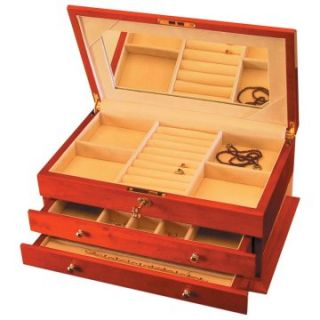 Large Two Drawer Wooden Jewelry Box   Womens Jewelry Boxes