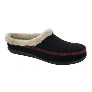 Hildie Womens Scuff Slippers by Daniel Green   Black   Womens Slippers