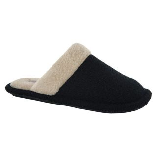 Joy Womens Scuff Slippers by Daniel Green   Black   Womens Slippers