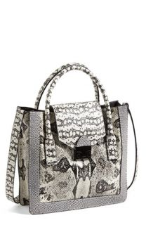 Chloé Alison   Lizard Printed Leather Tote