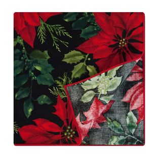 Crimson Placemat by Rose Tree 'Mistletoe and Holly' Napkins (Set of 6) Table Linens