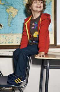 Mini Boden Hooded Sweatshirt, T Shirt & Slim Fit Jeans (Toddler Boys, Little Boys & Big Boys)