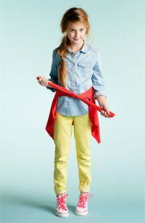 Tucker + Tate Chambray Shirt, Cardigan & Skinny Jeans (Big Girls)