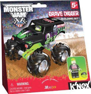 Monster Jam Grave Digger KNEX Bausatz mit Fahrer Figur Spielzeug