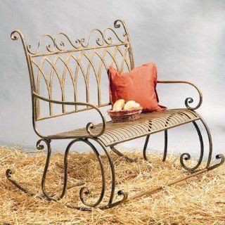 Schaukelbank (Eisen * Gruen panaschiert * Fuer romantische Sitzplaetze im Wintergarten * L x T x H): Küche & Haushalt