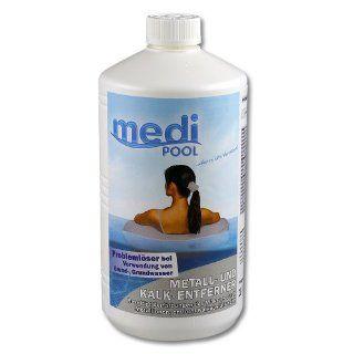 Metall  und Kalk Entferner 1,0 l von mediPOOL   Entfernt zuverl�ssig Eisen aus dem Wasser vom Pool bei Verwendung von Brunnenwasser: Garten