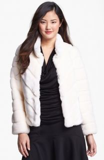 Kristen Blake Faux Rabbit Fur Jacket (Regular & Petite)