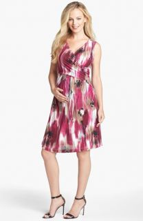Japanese Weekend Cross Front Maternity/Nursing Dress