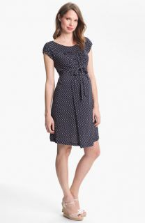 Japanese Weekend Polka Dot Maternity Dress