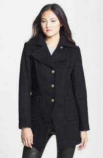 Kristen Blake Single Breasted Wool Blend Walking Coat ( Exclusive)