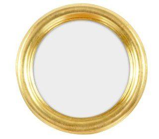 Rundrahmen, runder Bilderrahmen aus Holz im 12x12 cm Format in gold komplett mit Normalglas Küche & Haushalt