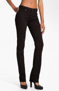 Paige Denim Skyline Straight Leg Stretch Jeans (Black Ink)