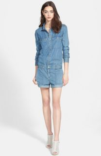 Paige Denim Jackson Long Sleeve Denim Romper (Flyer)