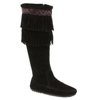 Minnetonka Double Fringe Knee High Boot