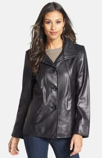 Ellen Tracy A Line Leather Jacket