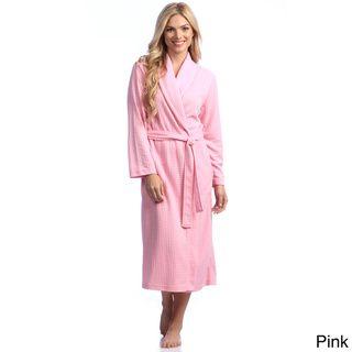 Women's Houndstooth Knit 48 inch Shawl Robe Jasmine Rose Pajamas & Robes