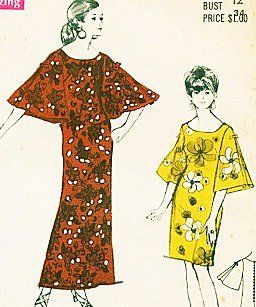 Polynesian Pattern 186 Kealoha, Muu Muu Dress in Two Lengths Sewing Pattern Vintage Bridal Party, Evening, Party, Hostess: Everything Else