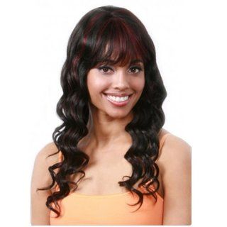 BOBBI BOSS Human Hair Wig MH 1172   Color #1B   Off Black  Hair Replacement Wigs  Beauty