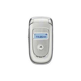 Motorola V191 Unlocked Phone With MP3 US Version Warranty Silver Cell Phones