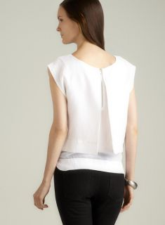 Walter Alicia Split Back Layered Linen Top Walter Long Sleeve Shirts