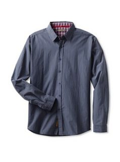 "191 Unlimited ""Hermippe"" Striped Slim Fit Shirt (XX Large): Clothing"