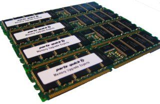 4GB 4 X 1GB PC2100 Registered 266MHz 184 pin DDR SDRAM ECC DIMM Memory RAM for Dell PowerEdge 3250 4600 7250 Server(PARTS QUICK BRAND): Computers & Accessories