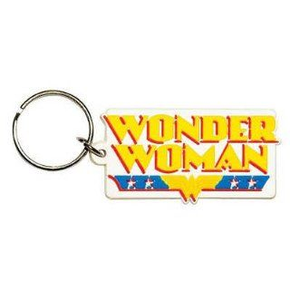 (2x2) Dc Comics   Wonder Woman Logo Rubber Keychain   Prints