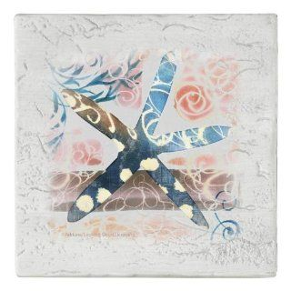 Thirstystone Ambiance Distressed Starfish Coaster Set: Kitchen & Dining