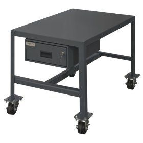 "Durham Steel Mobile Medium Duty Machine Table with Drawer, MTDM244842 2K195, 1 Shelves, 2000 lbs Capacity, 48"" Length x 24"" Width x 42"" Height, Powder Coat Finish: Industrial & Scientific"