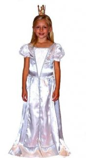 Queen Costume, White, with Crown: Clothing