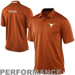 Nike Texas Longhorns Performance 2013 Coaches Polo   Burnt Orange