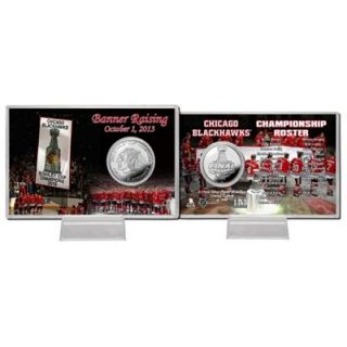 Chicago Blackhawks 2013 Stanley Cup Champions Banner Raising Ceremony Silver Coin Card
