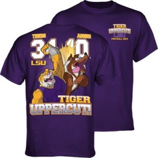 LSU Tigers vs. Texas A&M Aggies 2013 Score T Shirt   Purple